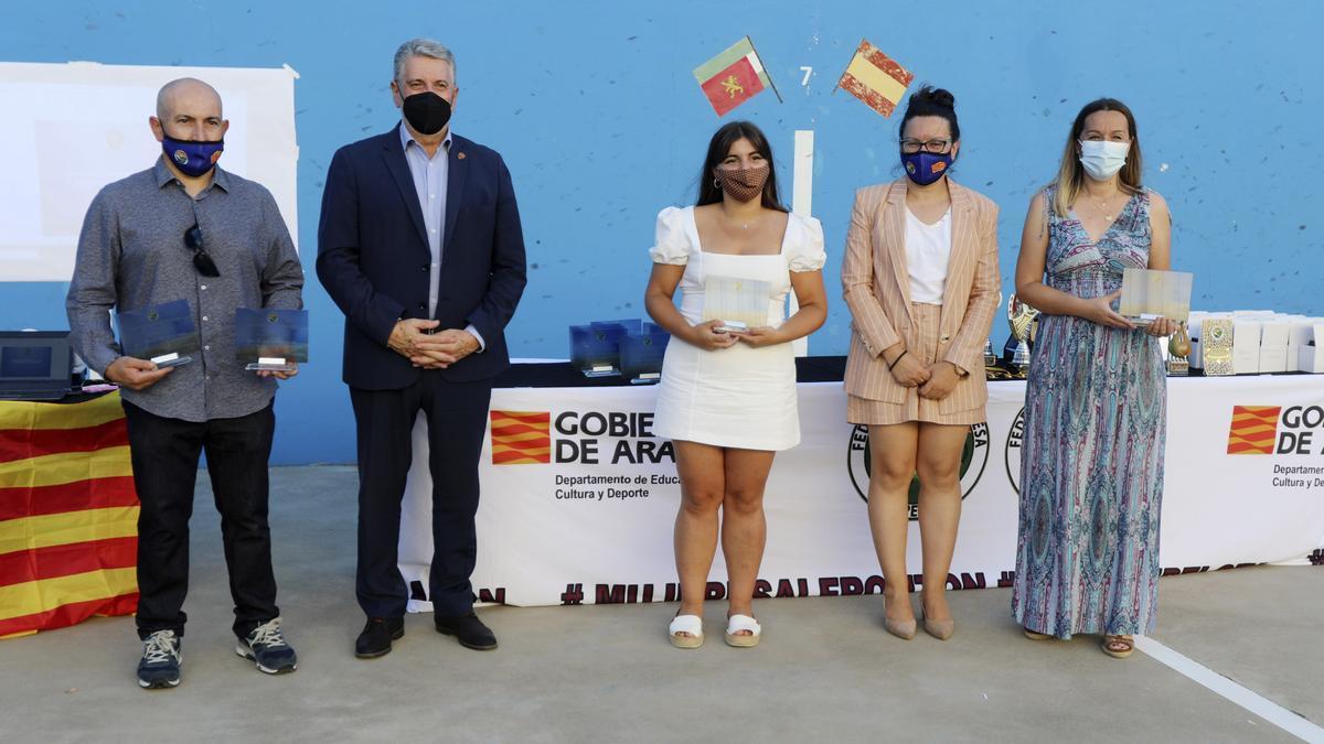 Los premiados, durante un momento en la entrega de premios