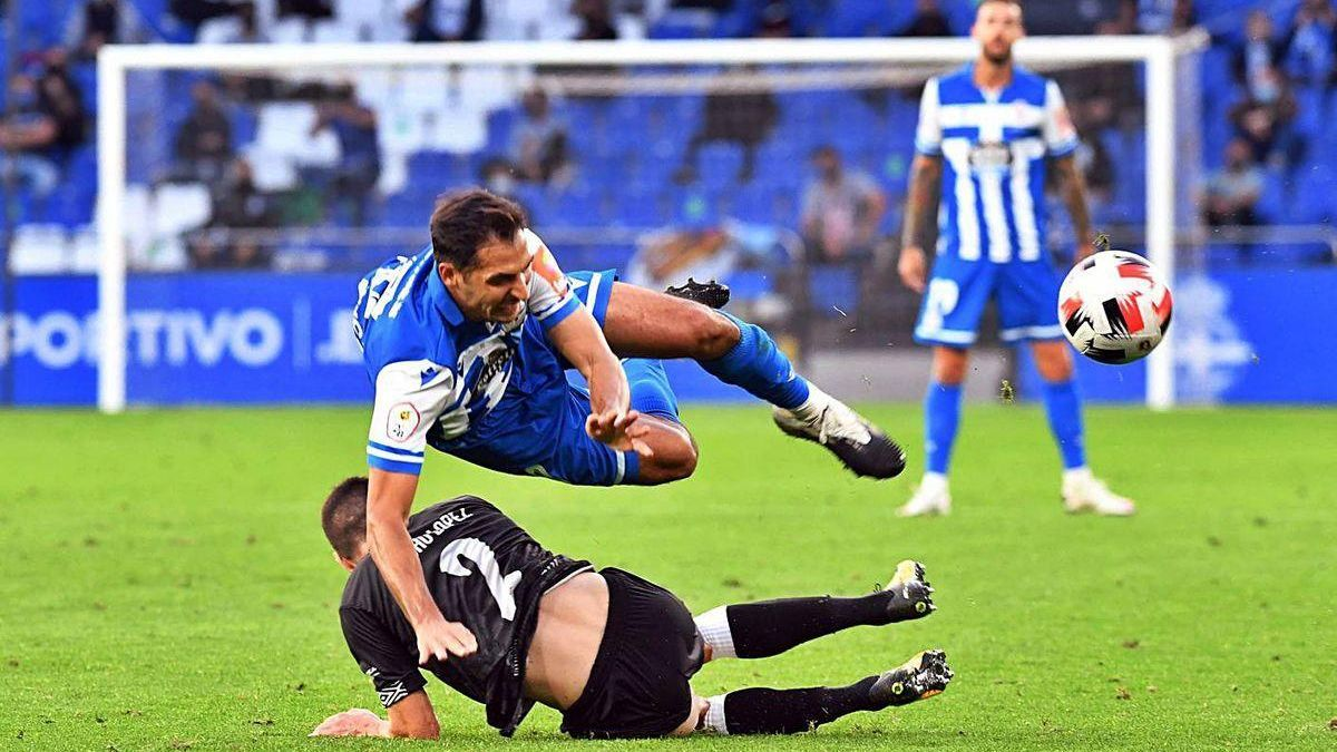 Borges, en el partido contra el Salamanca disputado en Riazor.