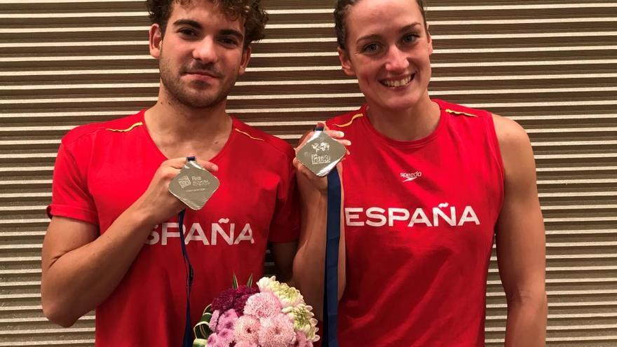 Plata del mallorquín Joan Lluís Pons en la Copa del Mundo de natación