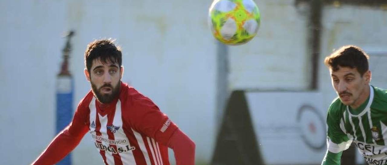 Jesús Varela, que no jugó ante el Bergantiños, regresa tras cumplir un encuentro de sanción. // G. Núñez