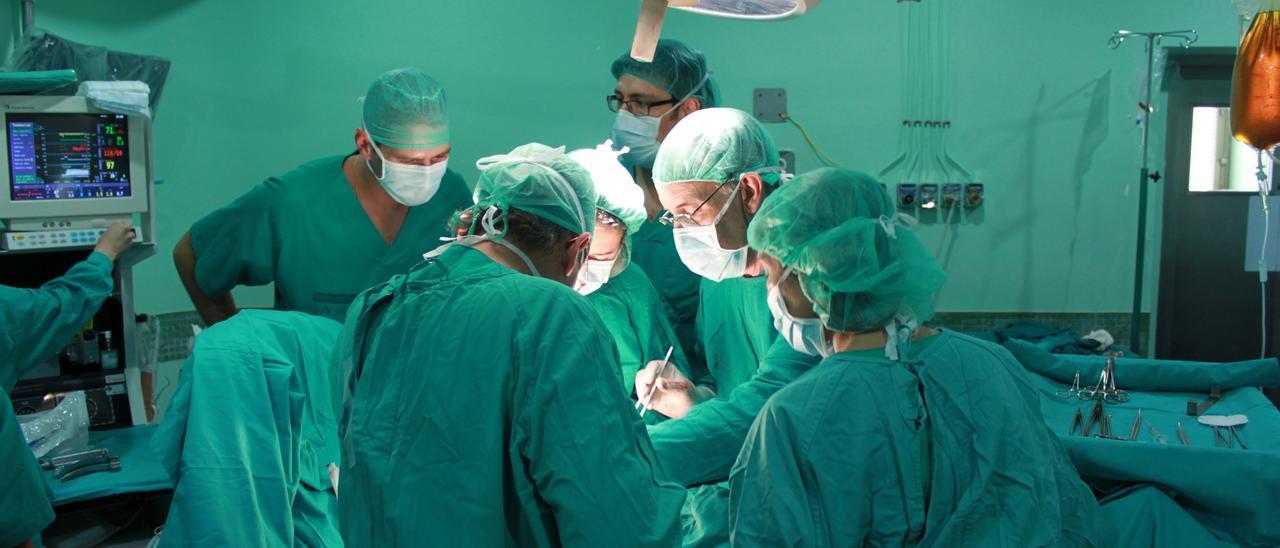 Una imagen de los quirófanos del Hospital General de Elche durante un trasplante