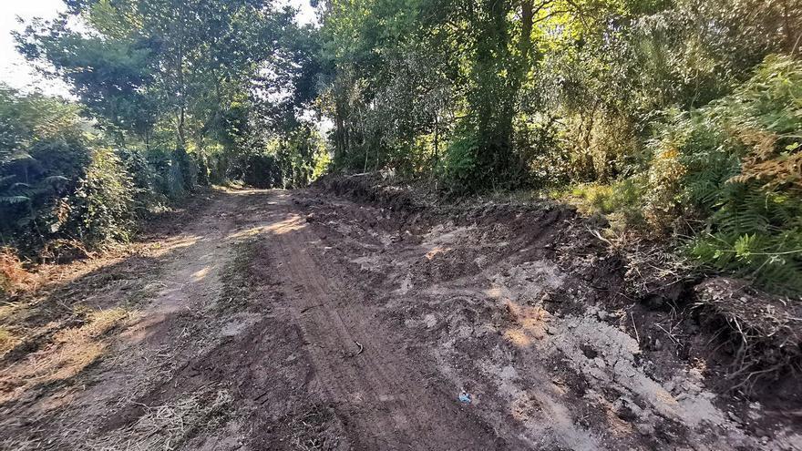 Bueu inicia el acondicionamiento del vial de acceso a Tuia