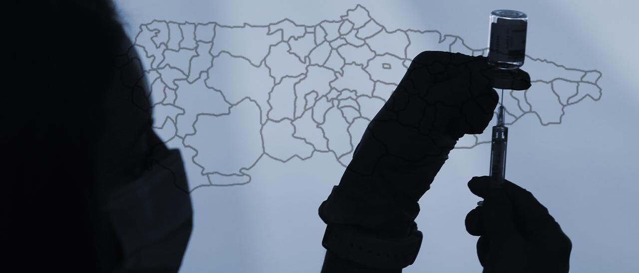 Así va la vacunación por municipios en Asturias.