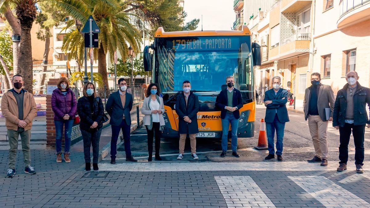 Presentación nueva línea de autobús Albal-Paiporta.
