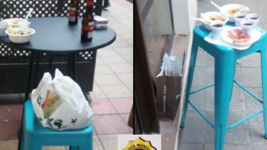 Denuncian a un bar de Valladolid y a once personas por consumir en una improvisada terraza