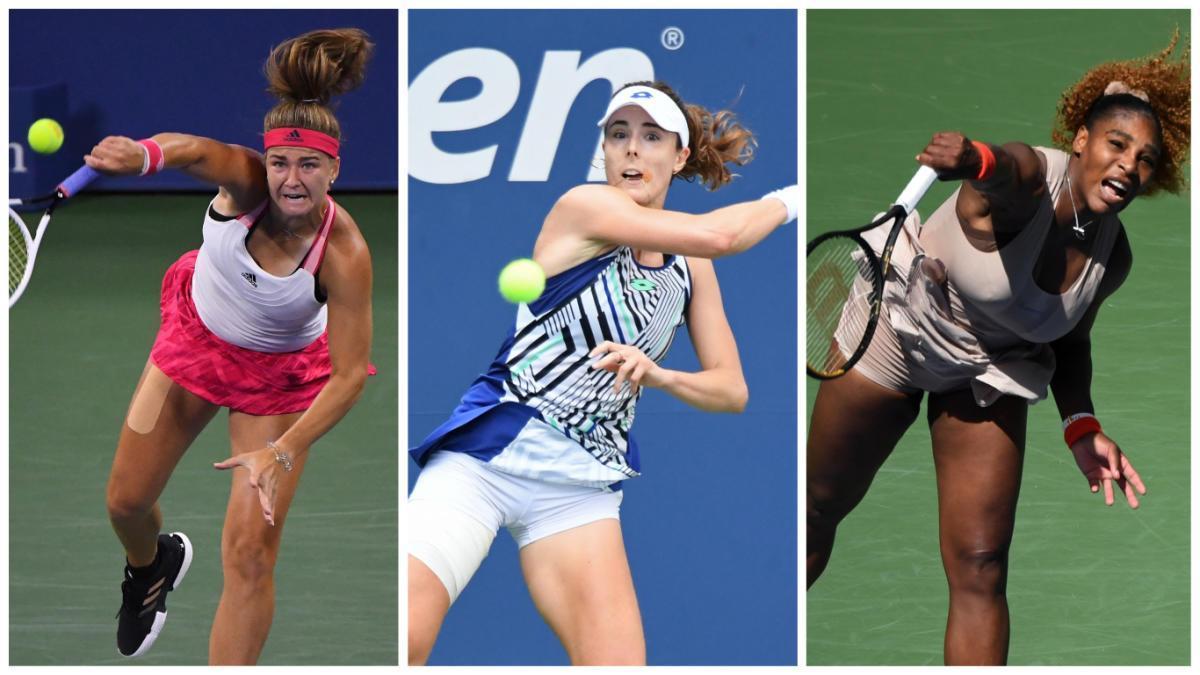 Victoria Azarenka, Tsvetana Pironkova i Serena Williams