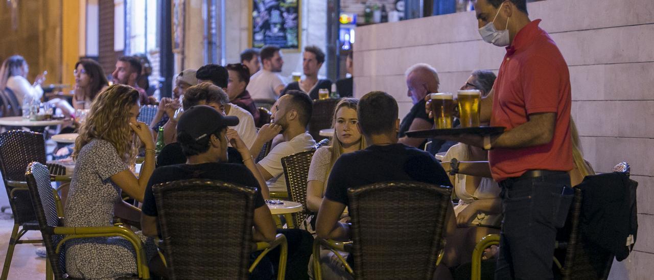 Un establecimiento de hostelería de Alicante el pasado fin de semana