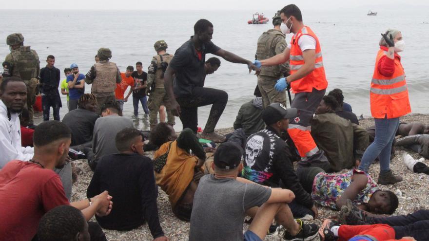 Más de 6.000 personas han entrado ilegalmente en España desde ayer