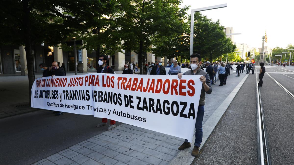 Manifestación de los trabajadores de Avanza el pasado abril.