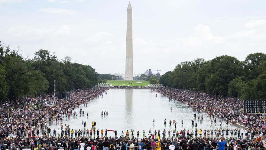 Manifestación para conmemorar el 57 aniversario del discurso de Martin Luther King