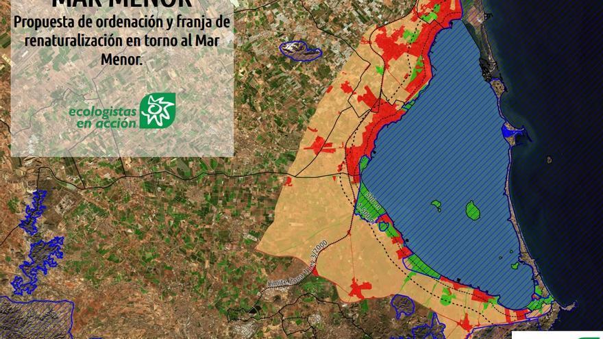 """Ecologistas propone crear una franja """"renaturalizada"""" en el Mar Menor de 15.000 hectáreas"""