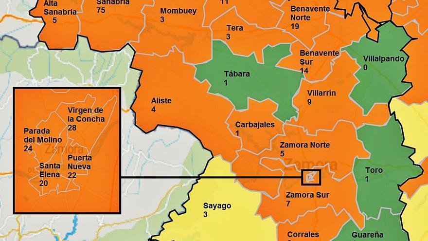 El COVID avanza en Zamora capital, con 94 casos en la última semana