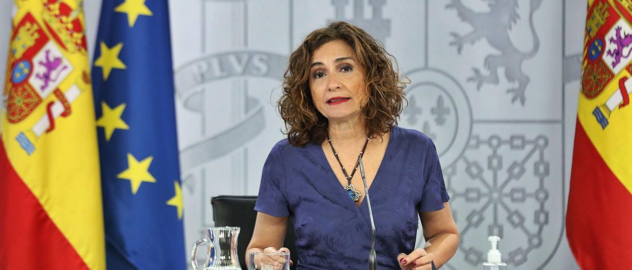 La portavoz del Gobierno, María Jesús Montero, ayer.  | EUROPA PRESS
