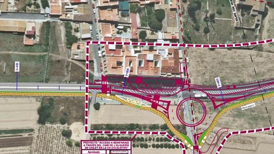 Las obras de la    rotonda para pacificar el tráfico de Benifaraig se iniciarán en breve