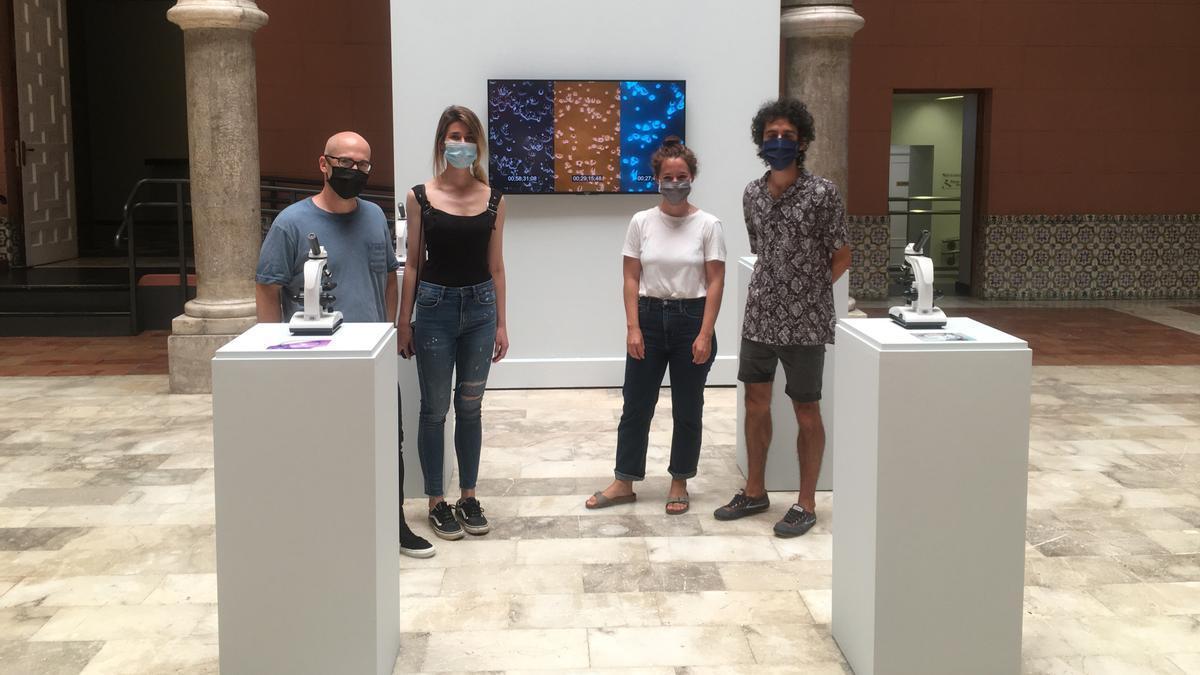 Susana Ballesteros y Jano Montañés ganaron el último premio de arte Santa Isabel por su instalación 'Geno-Roots'. Víctor Solanas-Díaz logró el accésit por la obra 'Between categories'