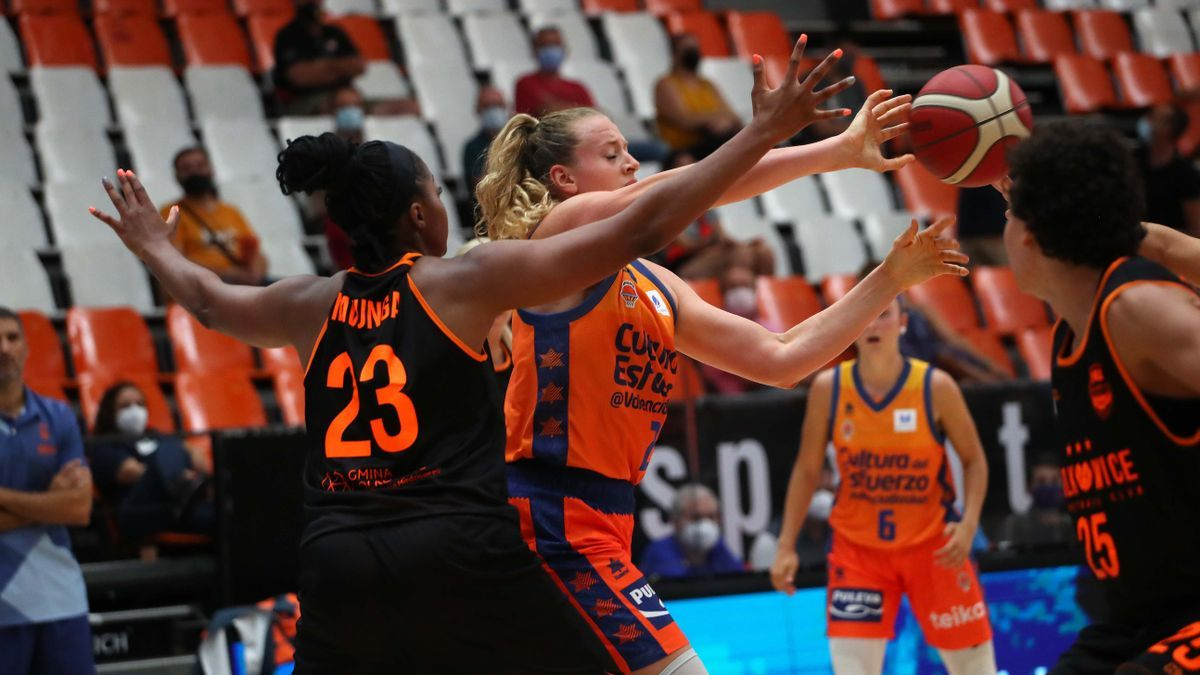 Partido del Trofeu Ciutat de València entre el Valencia Basket y el MKS Polkowice