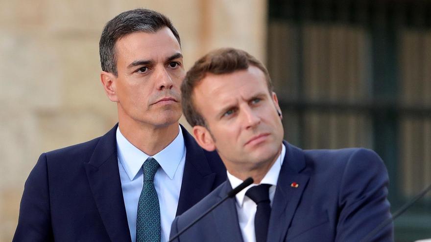 Pedro Sánchez y Emmanuel Macron, en una imagen de archivo.