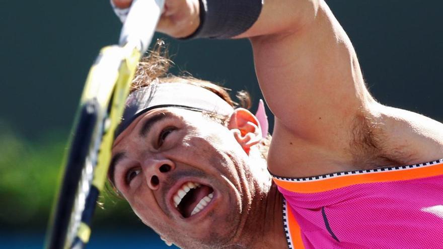 Rafa Nadal accede sin sustos a los cuartos de final de Indian Wells
