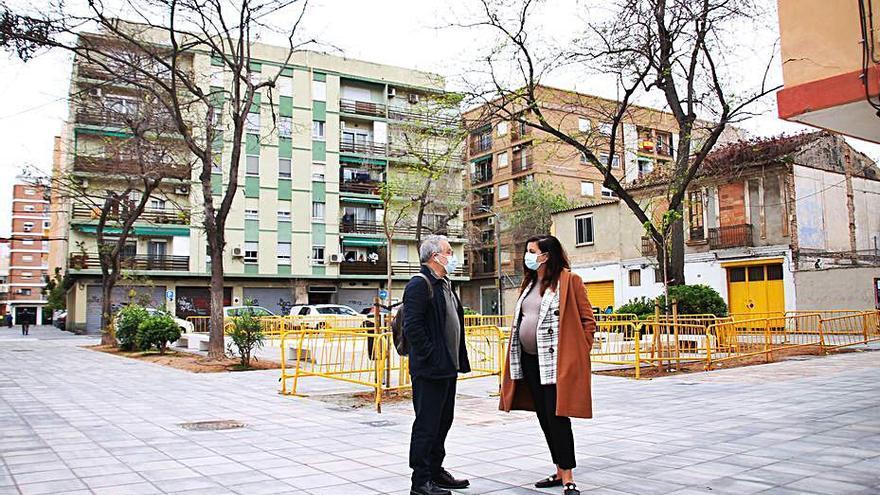 Acaba la reurbanización de la plaza de Calabuig en el Canyamelar