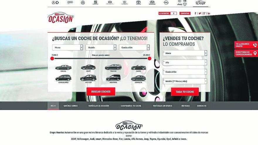 Grupo Huertas pone en marcha un escaparate online de vehículos de ocasión