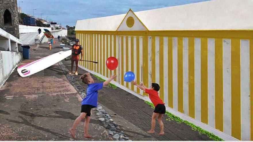 Un aula del mar en la playa de La Laja impulsará actividades deportivas y culturales