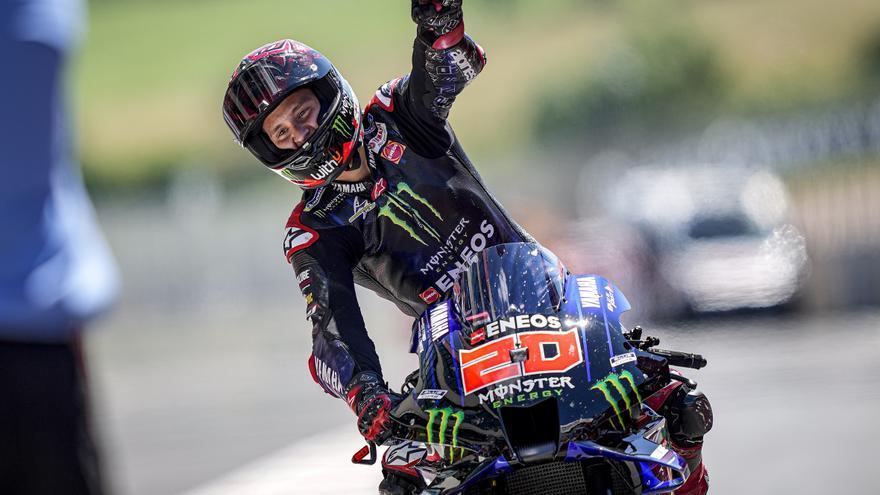 Fabio Quartararo, ganador de Moto GP 2021 en el circuito de Mugello