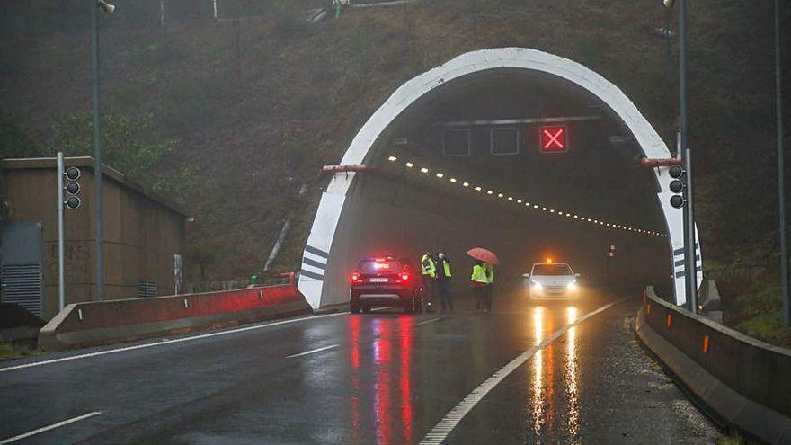 El túnel de la A-52 dirección Madrid, cortado hasta mayo
