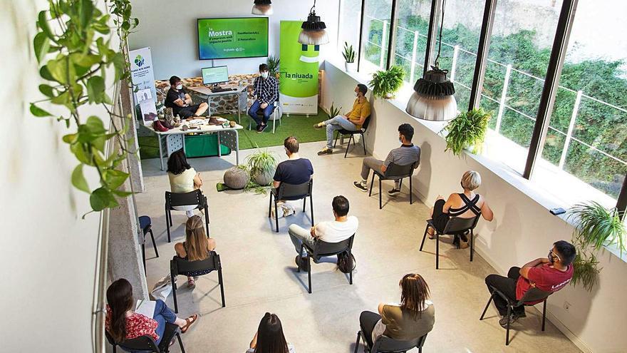 'La Panderola' acude al centro de emprendedores La Niuada