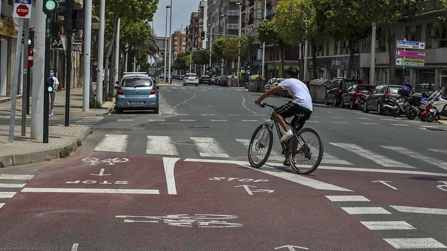 El carril bici de la avenida Juan Carlos I de Elche se ampliará en 1,5 kilómetros hasta llegar a Altabix