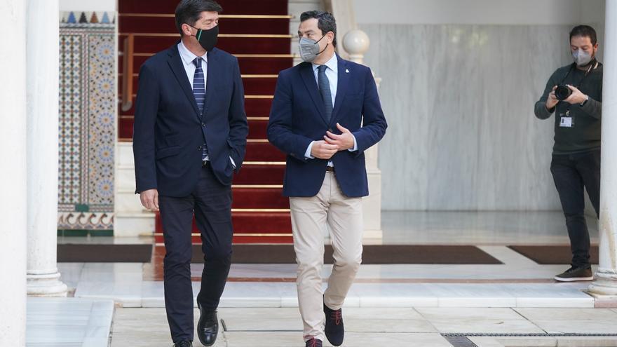 El PP rondaría los 50 escaños y podría repetir Gobierno con Cs en Andalucía