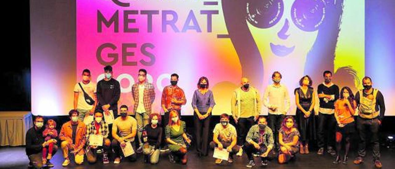 Todos los galardonados en el concurso de cortos del Festival Quartmetratges de Quart. | A. Q.