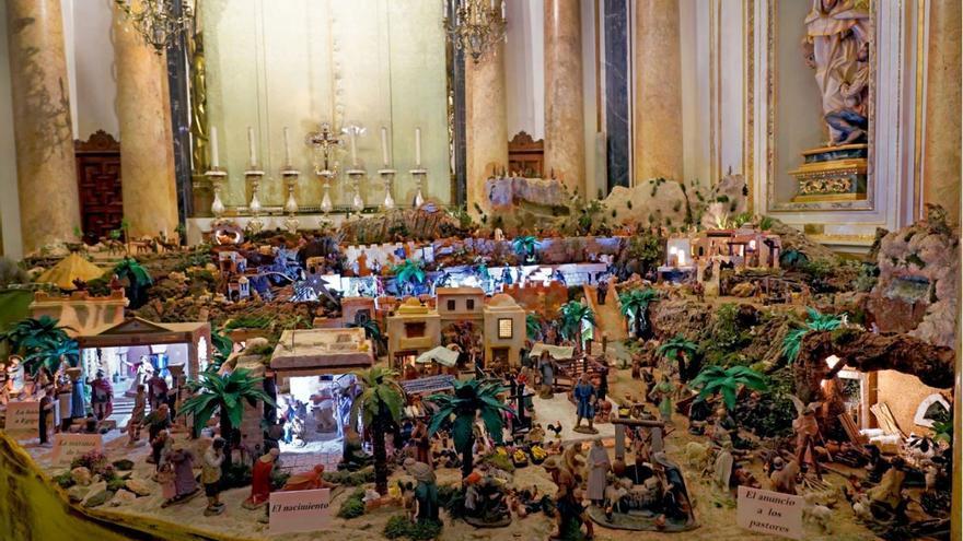Así es el Belén de la Basílica de la Virgen de los Desamparados