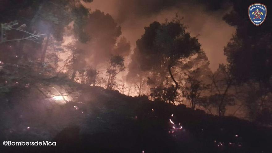 Incendio en Cala Estellencs