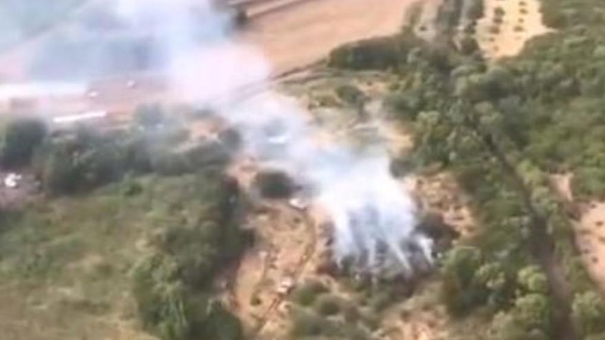 Un monte de Garafía sufre un incendio