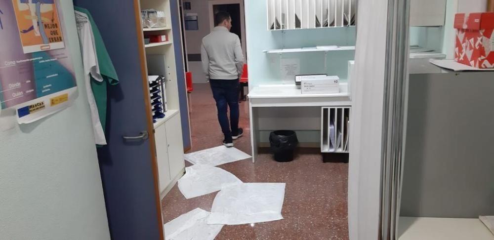 El temporal ha afectado al Hospital Vega Baja.