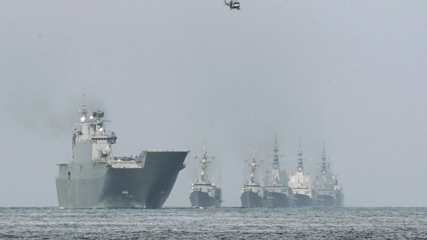 Las fuerzas especiales de la Armada se entrenan en Pontevedra