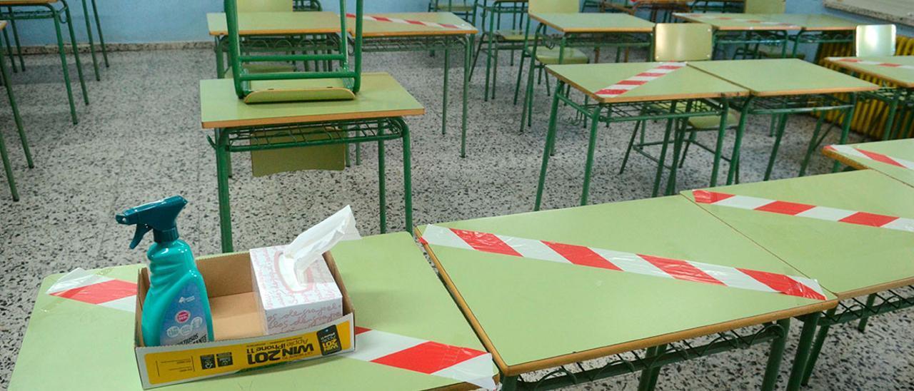 Imagen de archivo de una clase vacía
