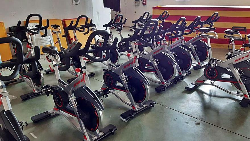 La Comarca cuenta con 14 nuevas bicis de spinning