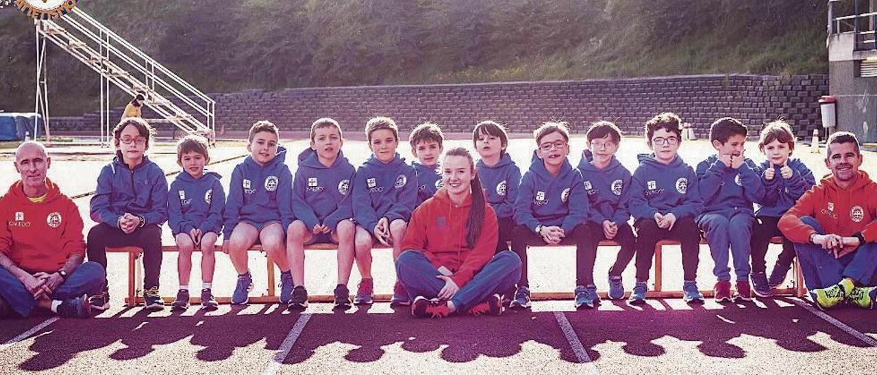 La cantera, la llave del éxito del Oviedo Atletismo