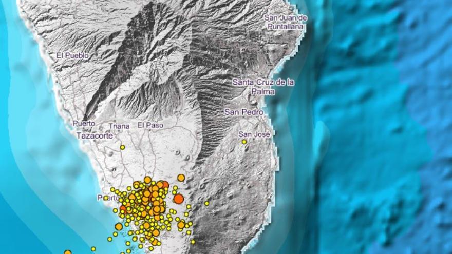 La Palma encadena seis terremotos en apenas 30 minutos