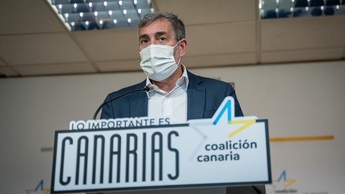 El secretario general nacional de Coalición Canaria, Fernando Clavijo
