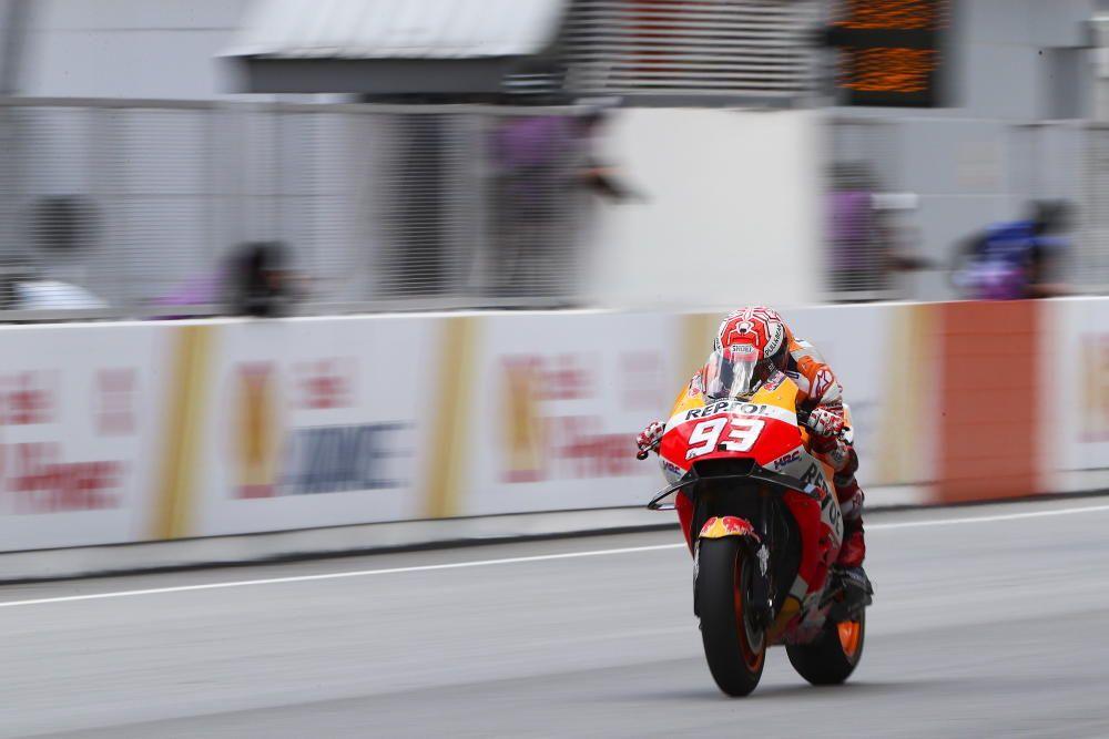 Las fotos de la victoria de Márquez en Malasia.