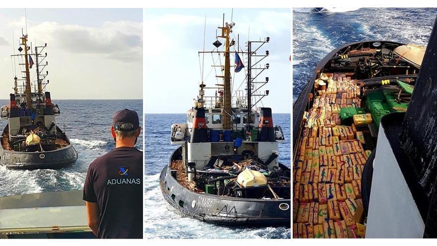 Interceptado al norte de Canarias un remorcador con 15.000 kilos de hachís