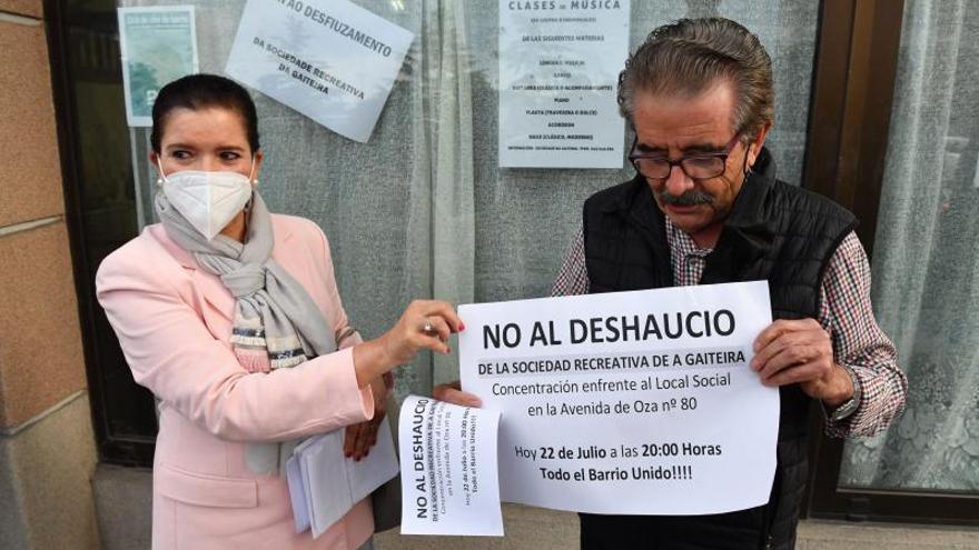 La sociedad A Gaiteira cumple un mes sin local ni solución a su deuda con la Diputación