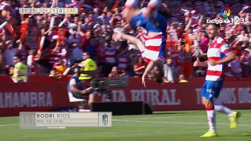 LaLiga 123: Los goles del Granada- Cádiz (1-1)