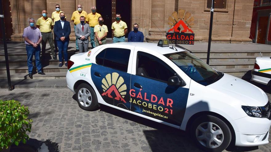 Los taxistas de Gáldar promocionan el Año Santo Jacobeo