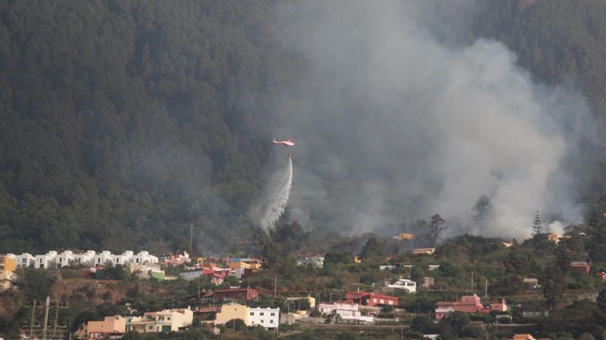 Incendio en La Orotava