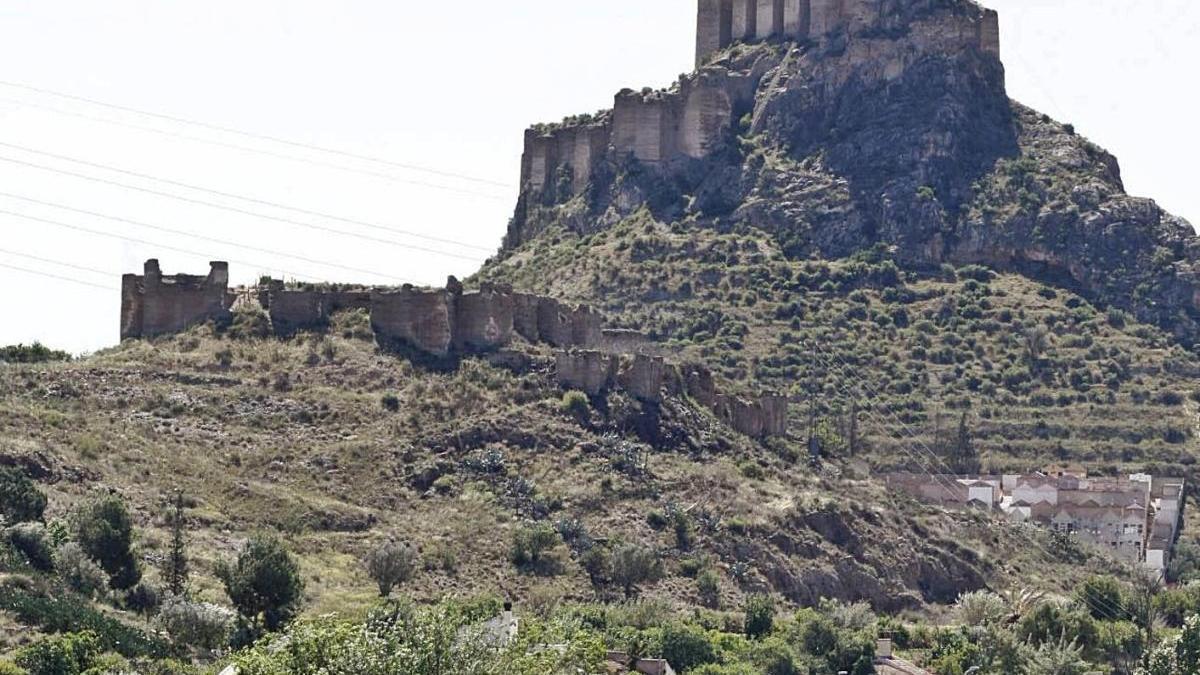 Imagen del Castillejo de Monteagudo, donde se va a restaurar el recinto inferior.