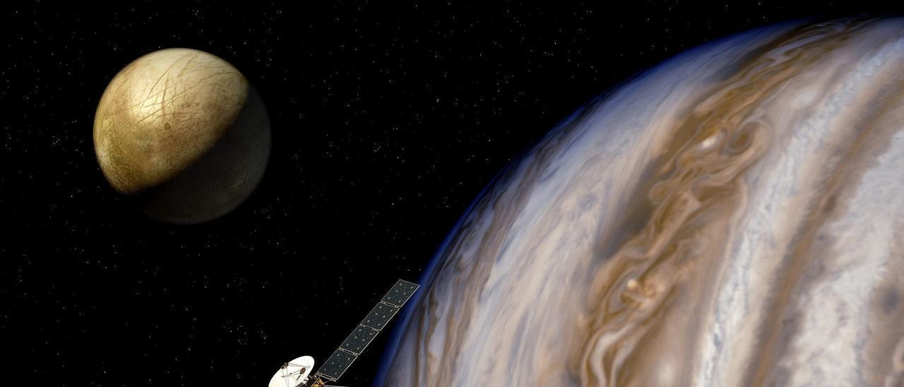 Un satélite en la órbita de Júpiter.