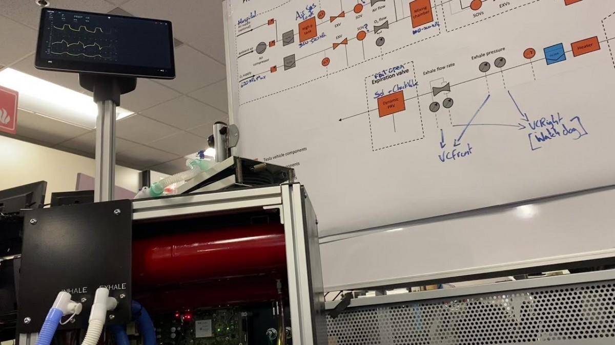 Tesla cumple su promesa y crea un respirador con componentes de sus coches